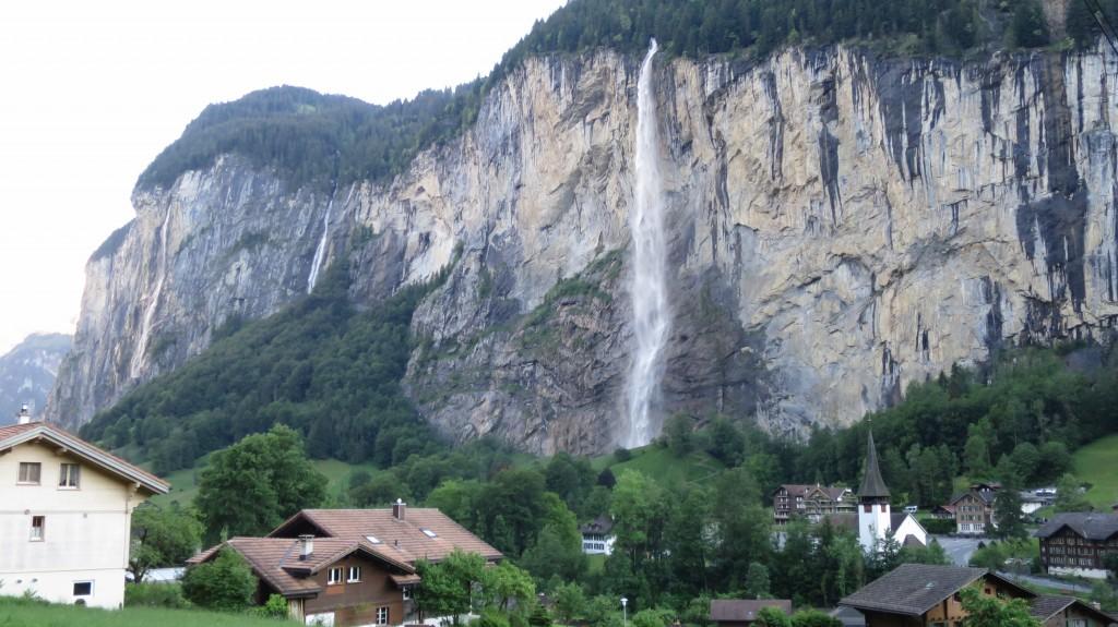Staubbach Fall Lauterbrunnen Switzerland Kmb Travel Blog